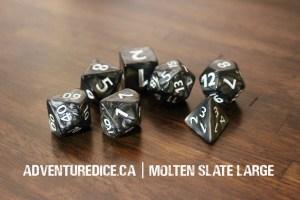 Molten Slate Large dice set