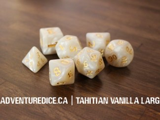 Tahitian Vanilla Large dice set