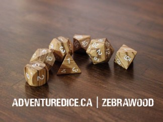 Zebrawood dice set
