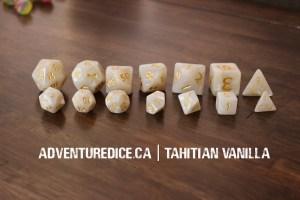 Tahitian Vanilla Compare dice set