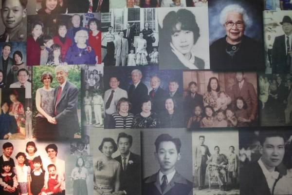 華僑のファミリーの写真