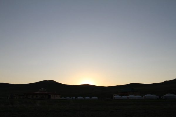 夕焼けの写真
