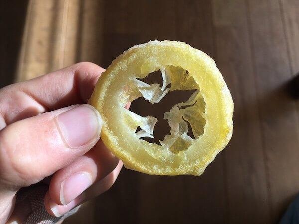輪切りレモンドライフルーツ写真