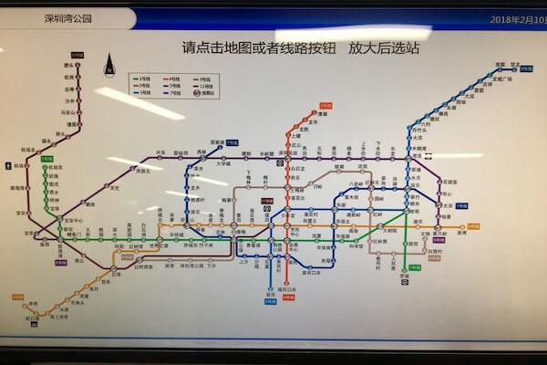 深セン地下鉄地図