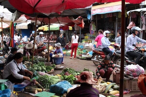 市場の様子の写真