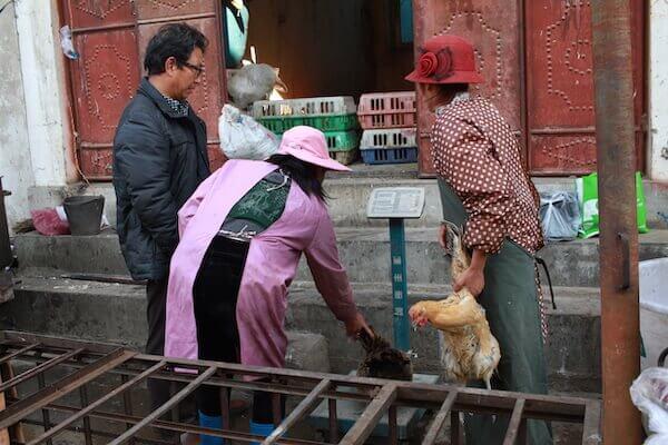 鶏肉売り場の写真