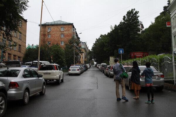 ウラジオストクの街の写真