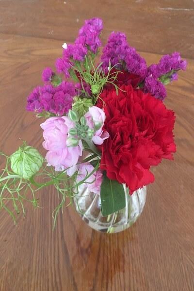 1週間後のお花の写真