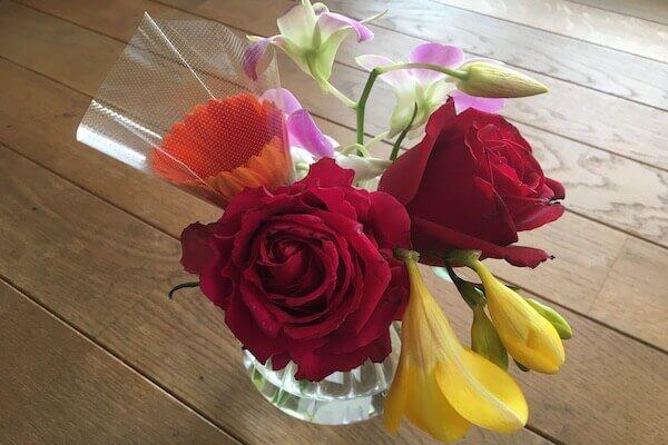 2回目に配達されたお花の写真