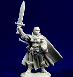 Seelah, Iconic Paladin miniature by Reaper Mini
