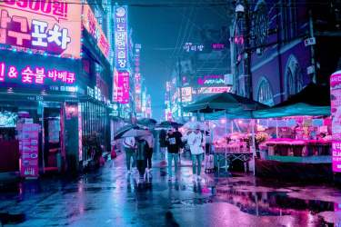 seoul korean korea south rain language guide street places locals roe learn lights local things place steve japan modern outdoor
