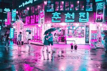 cyberpunk neon seoul korea south covers creative asia hunting cities guide canva mysteriously looks local boredpanda inspire tour morning rain