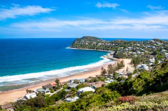 View of Whale beach from Jonah's
