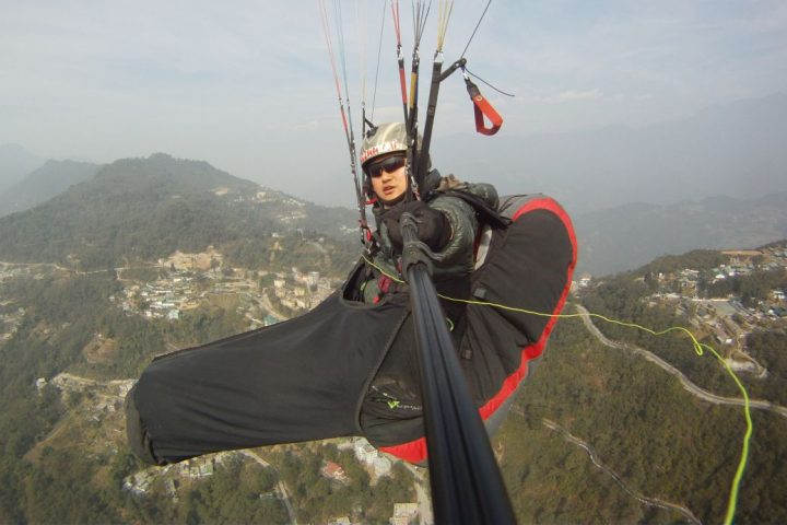 Raju Rai flying in Gangtok