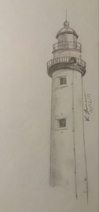 Lighthouse, Pencil on Paper, 12 October 2013