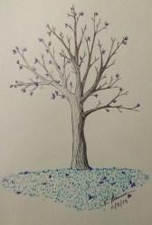 """Blue Grass,"" Ink on Paper, 5 November 2013"