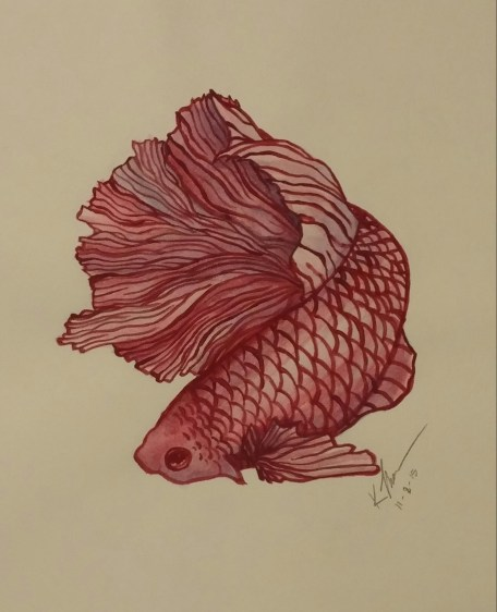 Fish, Acrylic Paint on Paper, 8 November 2015