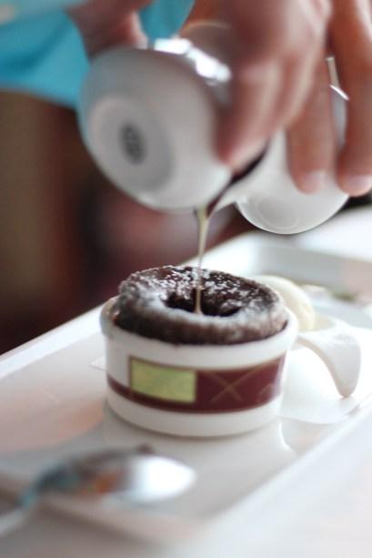Chocolate souffle at Palo