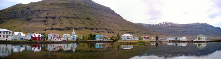 Town of Seydisfjordur in the East Fjords