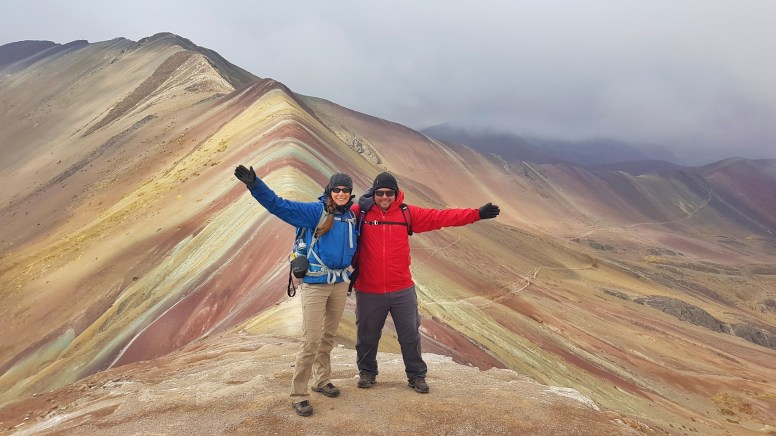 The classic Rainbow Mountain shot!