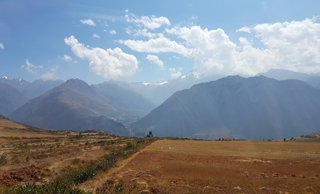 The beautiful Andes bordering the Sacred Valley.