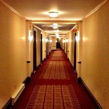Old Creepy Hotel Hallway