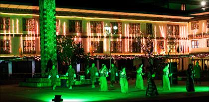 night_performance_Bhutanese_dance_Thimphu_Bhutan.
