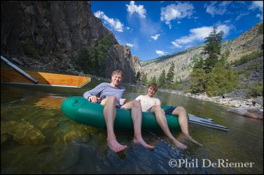 pack_raft_father_son_river_trip_relaxing