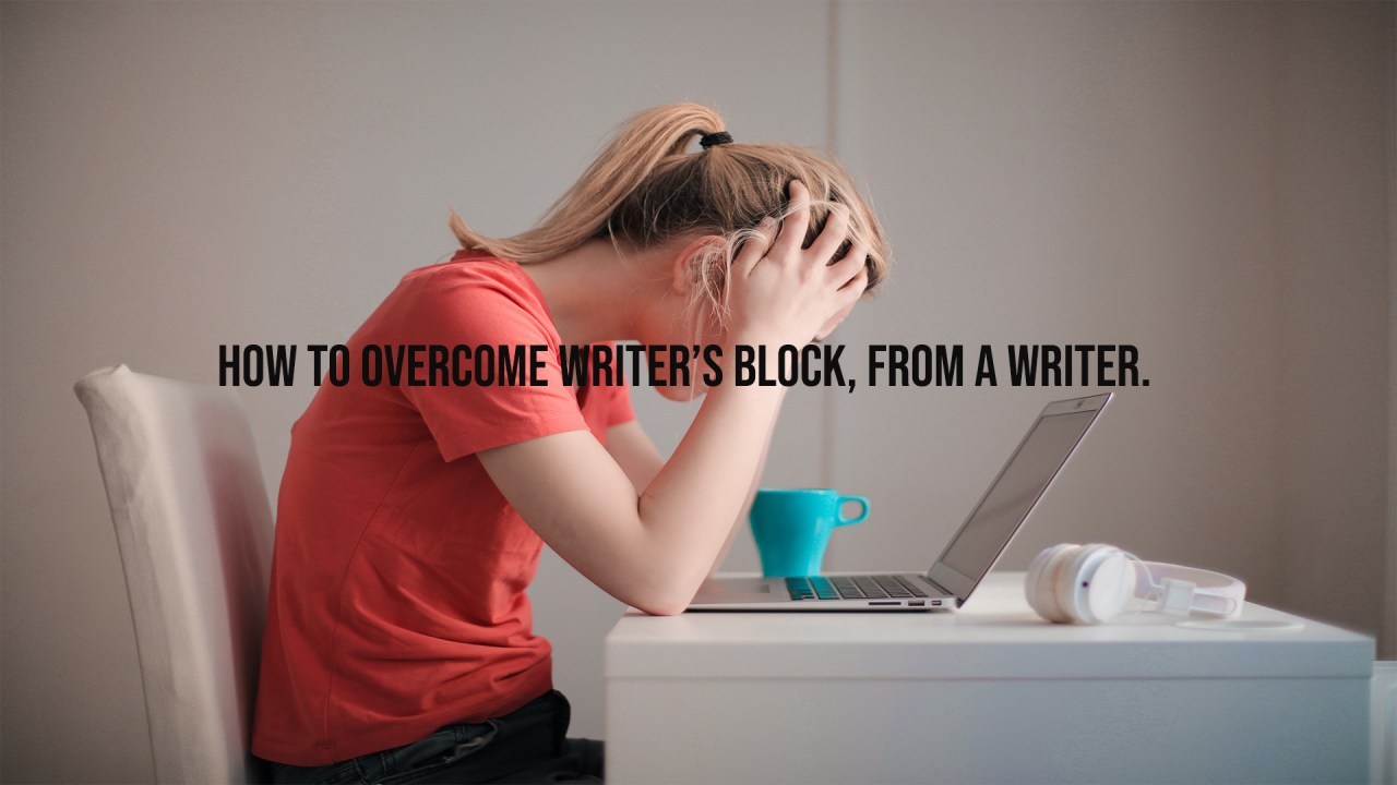 overcome writer's block | ADventure Marketing | Tampa, FL