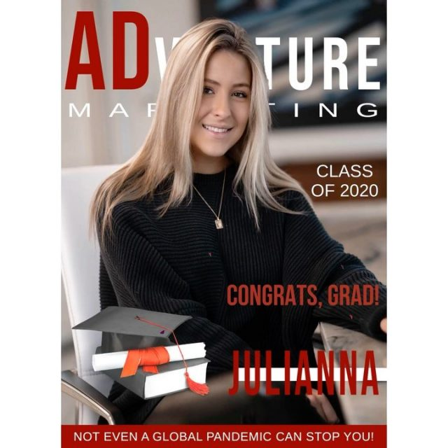 CONGRATS, GRAD! 🤩🎓 . . One of ADventure's original members completed her final year at @uoftampa ! Not only is this gem an integral member of our team, @julianna_yost is cherished by countless members of the Tampa Bay community. .  Congrats, Jules. While not the senior year anybody could have imagined, you adapted and persevered.  #TampaBayStrong #CongratsGrad #classof2020 #strongertogether #DigitalMarketing #Marketing #Branding #Advertising #MarketingDesign #SEO #GraphicDesign #ADventureMarketing #AdventureWithUs