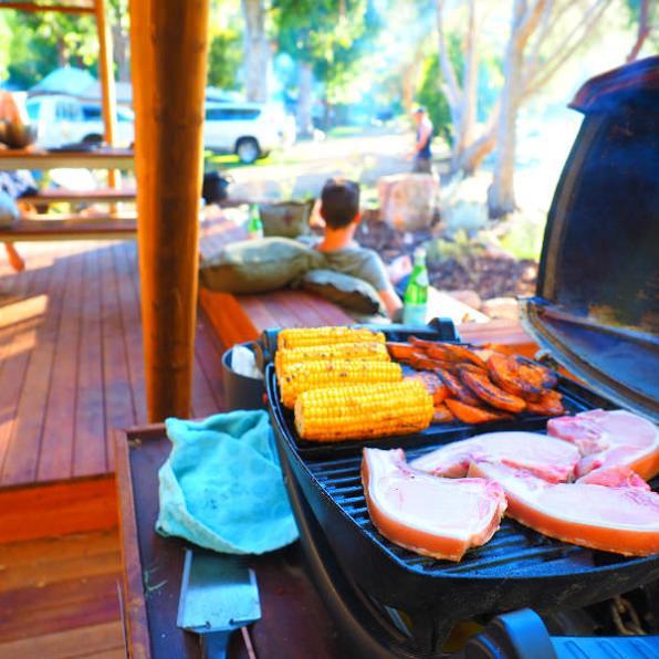 BBQing at Halls Gap Lakeside Tourist Park