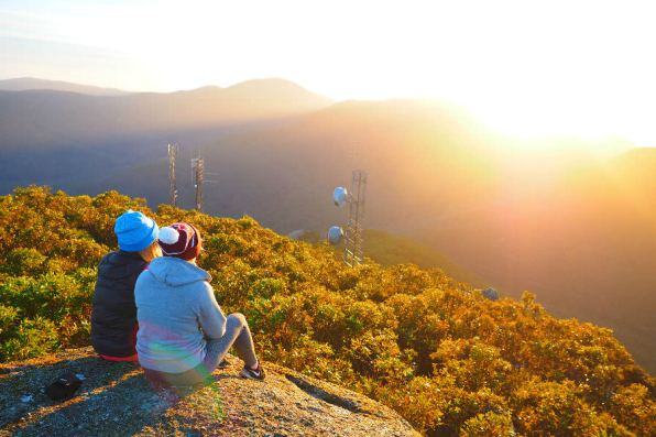 Enjoying the Mt Oberon Summit Sunrise