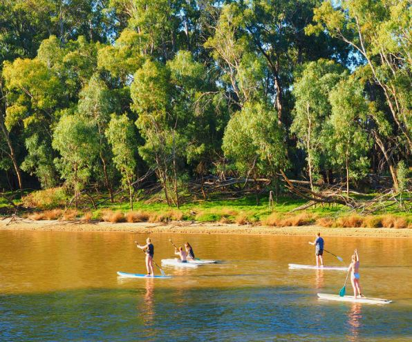 Paddleboarding on the Murray