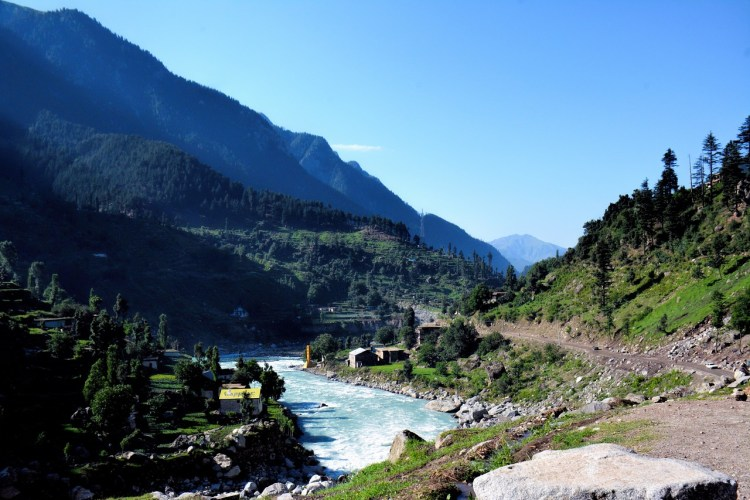 Motorcycle Touring in Pakistan - Mountain RIver