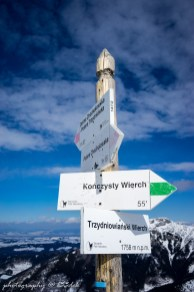 Trzydniowiański Wierch, koniec podbiegu i start zjazdu na trasie fakultatywnej.