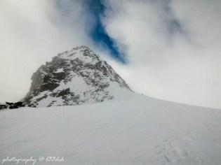 Kopuła Zuckerhutl,najwyższego szczytu Alp Stubajskich - 3507m.