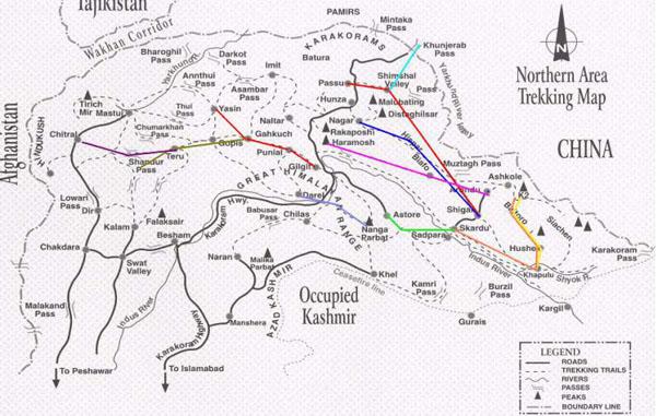trekking-northern-pakistan-map » Adventure Pakistan