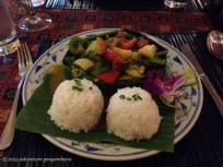 A traditional Cambodian dish, which I cannot remember the name of. A little spicy, but not very spicy.