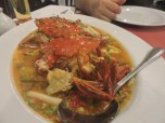 """The """"after"""" picture of the crabs. Great spicy broth."""