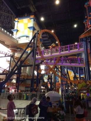 A theme park in the middle of a mall. Berjaya Times Square does count as a mega mall.