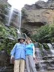 The intrepid adventurers at Katoomba Falls