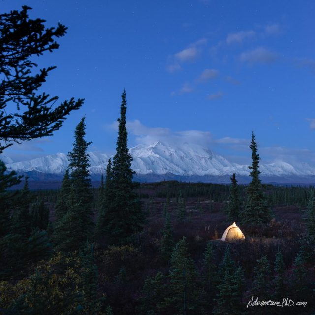 Wonder Lake Campground, Denali National Park, Alaska, USA