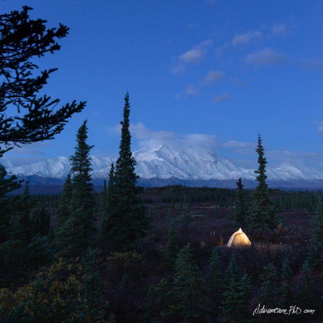 Wonder Lake Campground, Denali National Park, Alaska, USA