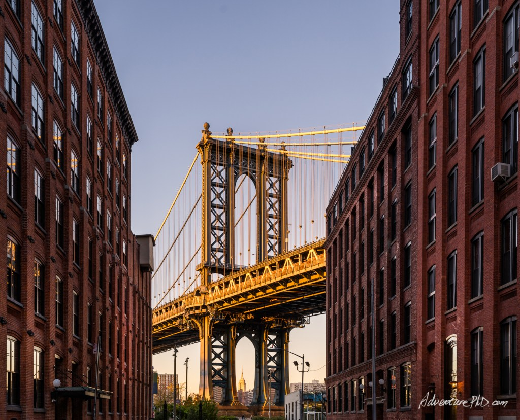DUMBO view of NYC