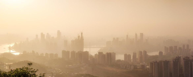 Chongqing city view from the Three Rocks (三块石)