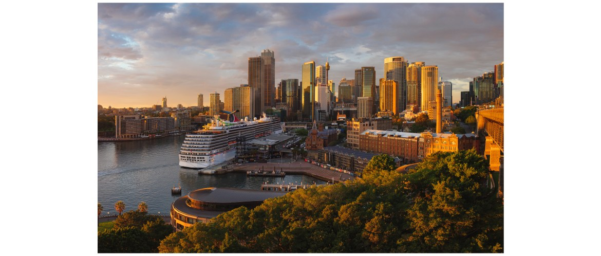 Sydney skyline and harbor view