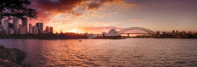 Sydney Opera House and city skyline