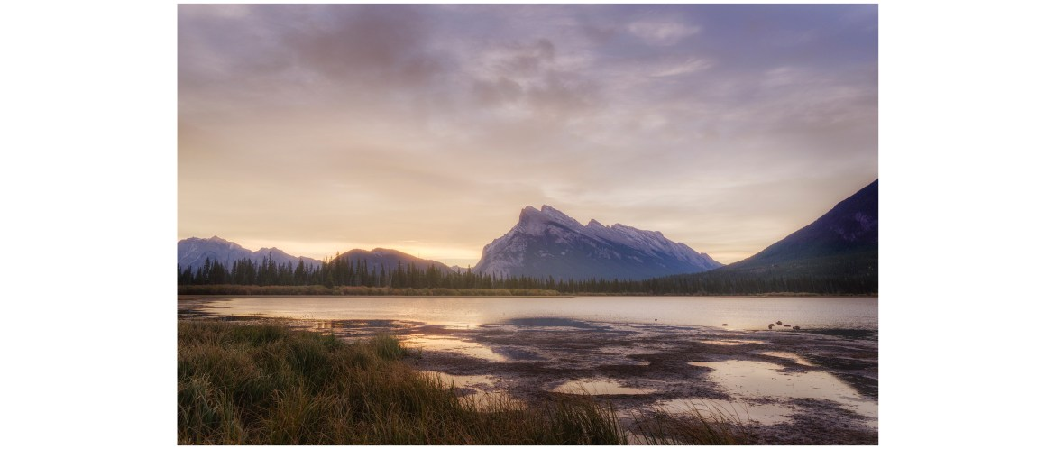 Vermilion Lakes landscape after the morning glow