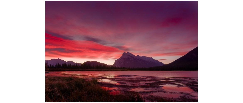 Vermilion Lakes morning glow, Banff Landscape photography