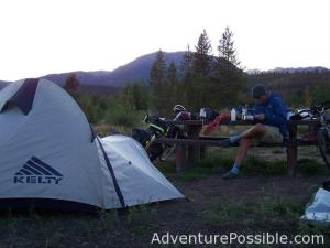 Bike touring and camping